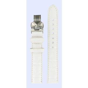 Tissot Tissot T007309A Uhrenarmband Weiß Leder 15 mm
