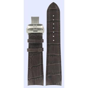 Tissot Tissot T035439A & T035617A T-Trend Uhrenarmband Dunkelbraun Leder 23 mm