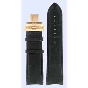 Tissot Tissot T035614A T-Classic Watch Band Black Leather 24 mm