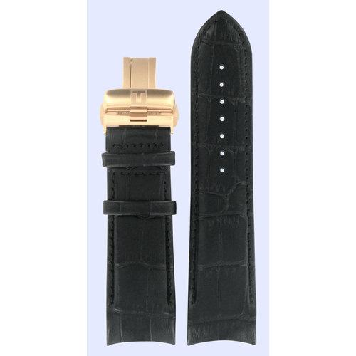 Tissot Tissot T035614A T-Classic Horlogeband Zwart Leer 24 mm