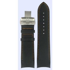 Tissot Tissot T035614A & T035627A T-Classic Watch Band Black Leather 24 mm