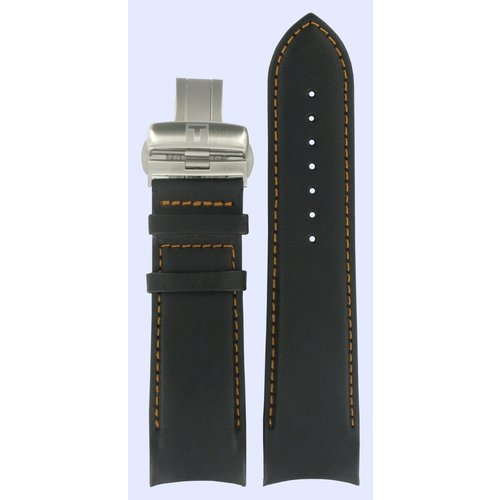 Tissot Tissot T035614A & T035627A T-Classic Horlogeband Zwart Leer 24 mm