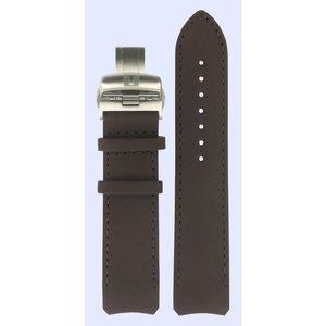 Tissot Tissot T013420A Uhrenarmband Dunkelbraun Leder 21 mm