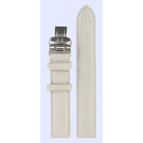 Tissot Tissot T017309A Watch Band White Leather 16 mm