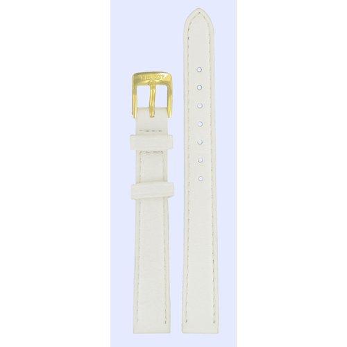 Tissot Tissot T71313074 Uhrenarmband Weiß Leder 12 mm