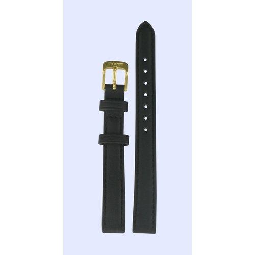 Tissot Tissot T71318074 Horlogeband Zwart Leer 12 mm