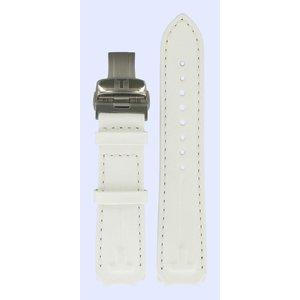 Tissot Tissot T33785885 Uhrenarmband Weiß Leder  mm