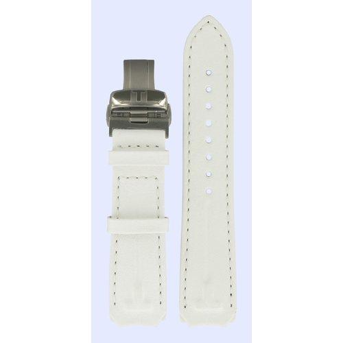 Tissot Tissot T33785885 Horlogeband Wit Leer  mm