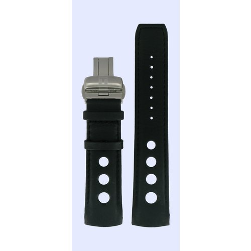 Tissot Tissot T044632A & T044614A Uhrenarmband Schwarz Leder 22 mm
