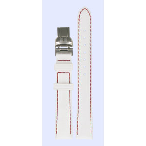 Tissot Tissot T008010A Horlogeband Wit Leer 14 mm