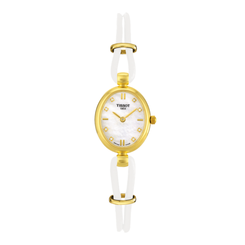 Tissot Tissot T7131 & T7133 Horlogeband Wit Leer  mm