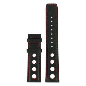 Tissot Tissot T021414A Horlogeband Zwart Leer 20 mm