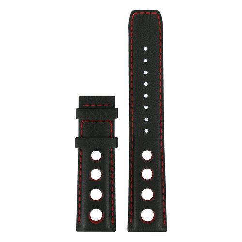 Tissot Tissot T021414A Uhrenarmband Schwarz Leder 20 mm