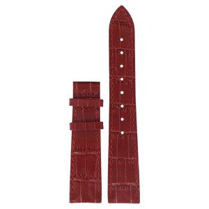 Tissot Tissot T22146681 XL Horlogeband Rood Leer 17 mm