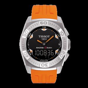 Tissot Tissot T002520A Horlogeband Oranje Siliconen 23 mm