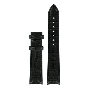 Tissot Tissot T035210A Uhrenarmband Schwarz Leder 18 mm