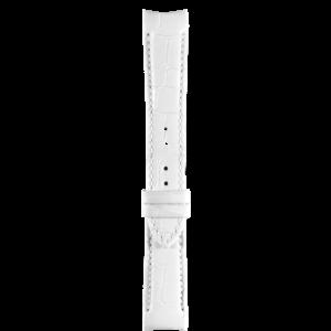 Tissot Tissot T035210A Horlogeband Wit Leer 18 mm