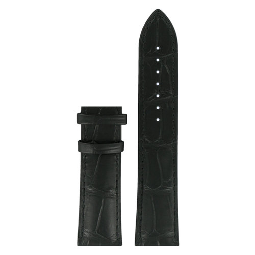 Tissot Tissot T070406A, T070405A & T059527A Uhrenarmband Schwarz Leder 22 mm