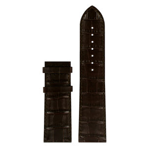 Tissot Tissot T911535A Watch Band Dark Brown Leather 24 mm