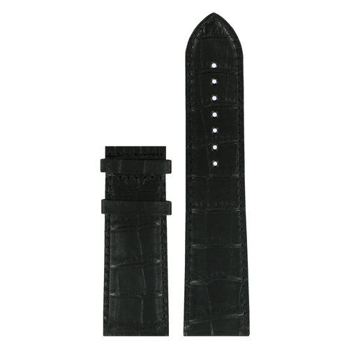 Tissot Tissot T911535A Horlogeband Zwart Leer 24 mm