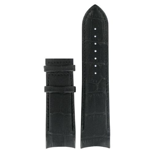 Tissot Tissot T035614A & T035627A Horlogeband Zwart Leer 24 mm