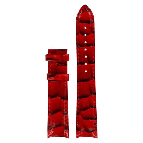 Tissot Tissot T0352071601101 Uhrenarmband Rot Leder 18 mm
