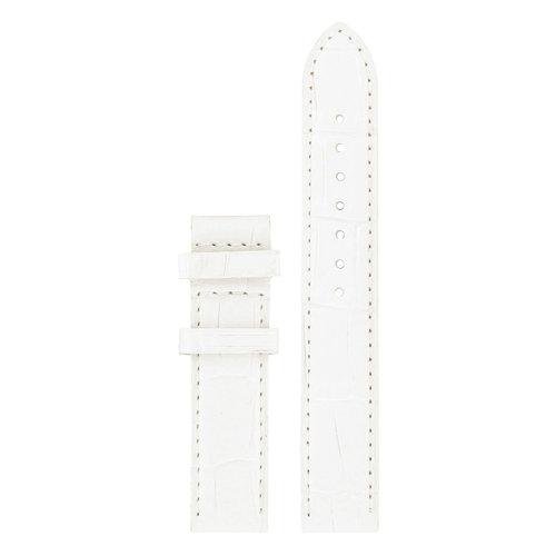 Tissot Tissot T050207A - XL Horlogeband Wit Leer 16 mm