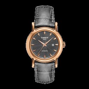 Tissot Tissot T907007A - XL Uhrenarmband Grau Leder 16 mm