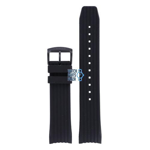Citizen Citizen CA4385, CA4386 & BM7455 Horlogeband Zwart Siliconen 22 mm