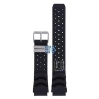 Citizen JP1010, JP1011 & JP1014 Aqualand Watch Band Black Silicone 20 mm