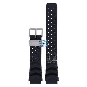 Citizen Citizen JP1010, JP1011 & JP1014 Aqualand Watch Band Black Silicone 20 mm