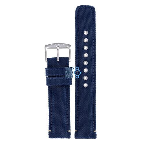 Citizen Citizen AW5000-16L Watch Band Blue Leather & Textile 20 mm