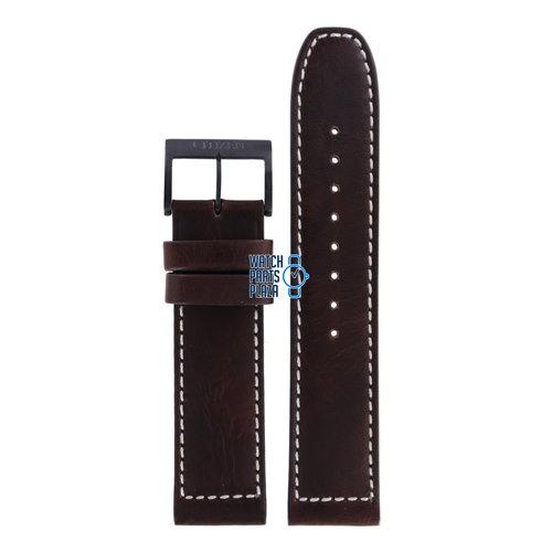 Citizen Citizen CA4215-04W Horlogeband Bruin Leer 22 mm