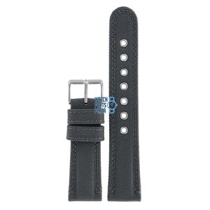 Citizen Citizen AT2100-09E Uhrenarmband Grau Leder / Textil 22 mm