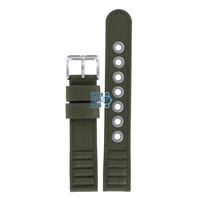 Citizen BM8180-03E & BM8180-20E Watch Band Green Leather & Textile 18 mm