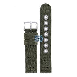 Citizen Citizen AT0200-05E Horlogeband Groen Leer & Textiel 20 mm