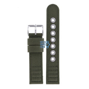 Citizen Citizen AT0200-05E Watch Band Green Leather & Textile 20 mm