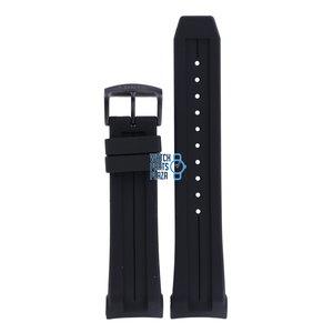 Citizen Citizen AW1354-07H, AW1354-07L & AW1354-15H Horlogeband Zwart Siliconen 24 mm