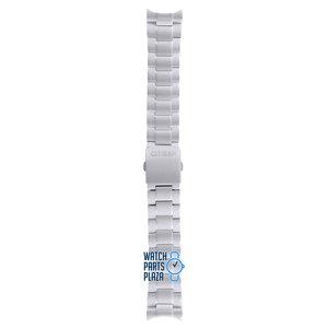 Citizen Citizen BM7080, BM7081, CA0020, CA0021 & CA0024 Correa De Reloj Gris Acero Inoxidable 22 mm