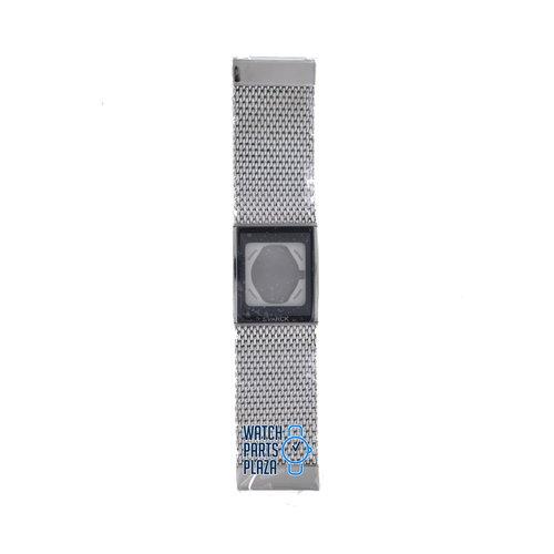 Philippe Starck Philippe Starck PH5008 Watch Band Grey Stainless Steel 27 mm