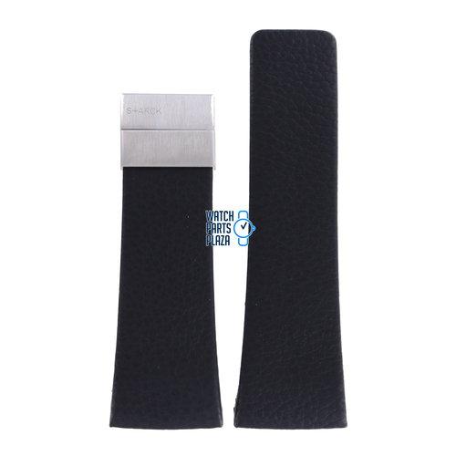 Philippe Starck Philippe Starck PH5018 Watch Band Black Leather 33 mm