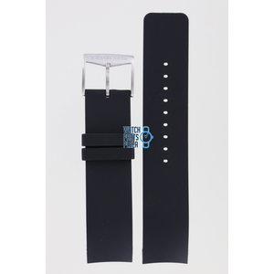 Michael Kors Michael Kors MK8040 & MK8409 Watch Band Black Silicone 22 mm