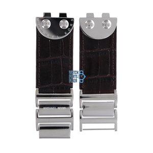 Michael Kors Michael Kors MK4134 Watch Band Brown Steel & Leather 16 mm
