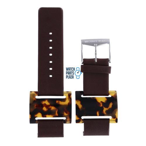 Michael Kors Michael Kors MK4002 Watch Band Brown Leather 22 mm