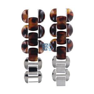 Michael Kors Michael Kors MK4174 Watch Band Brown Stainless Steel 22 mm
