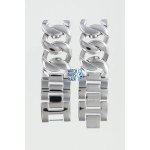 Michael Kors Michael Kors MK3023 Horlogeband Grijs Roestvrijstaal 19 mm