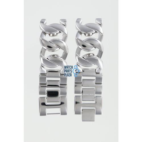 Michael Kors Michael Kors MK3023 Watch Band Grey Stainless Steel 19 mm