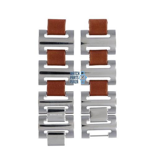 Michael Kors Michael Kors MK3049 Watch Band Grey Stainless Steel 12 mm