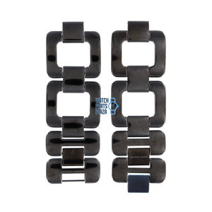 Michael Kors Michael Kors MK3067 Watch Band Black Stainless Steel 30 mm
