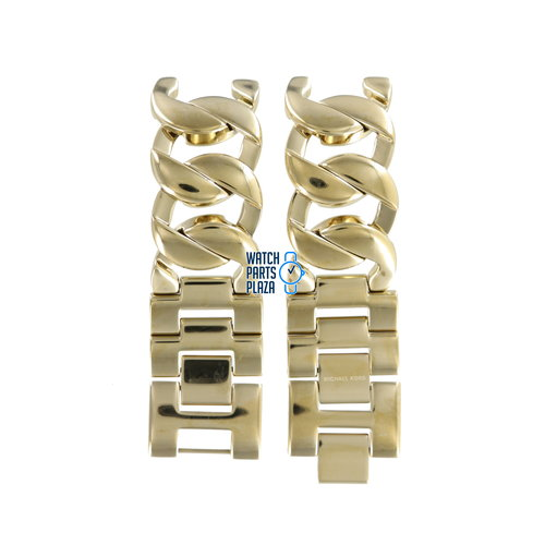 Michael Kors Michael Kors MK3024 Watch Band Gold Plated Stainless Steel 19 mm